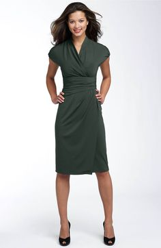 Main Image - Ivy & Blu Ruched Faux Wrap Dress