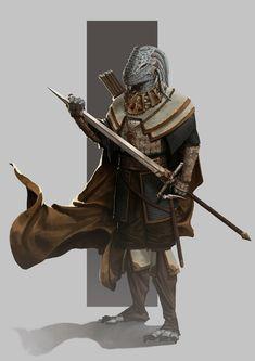 "wearepaladin: ""dragonborn paladin by Alex Scrivener """