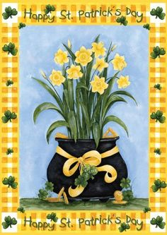 Toland Home Garden 112557 Lucky Daffodils Decorative Garden Flag, 12.5 by 18-Inch by Toland Home Garden. $6.99. Sublimated Flag made from 600 denier polyester fabric. All Toland Flags are machine washable and UV, mildew, and fade resistant. Decorative flags by Toland feature licensed artwork that is favored by flag flyers. Garden Flag Size: 12.5 inches by 18 inches. Toland Flags are Heat Sublimated to permanently dye fabric for long lasting color. The Lucky Daffodils Gard...