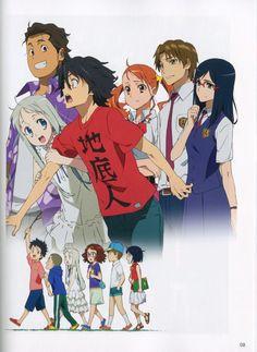Draw Anime Anohana The Flower We Saw That Day Anime Poster - High-quality brand new poster Art Manga, Manga Drawing, Manga Anime, Anime Art, Otaku Anime, Anime Girl And Boy, Menma Anohana, Gajeel Y Levy, Danshi Koukousei No Nichijou