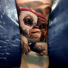 Wow, this is awesome.   Loving this #Gizmo Tattoo by Nikko Hurtado