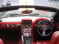 Pinned by http://FlanaganMotors.com. NA Mazda Miata RHD Interior
