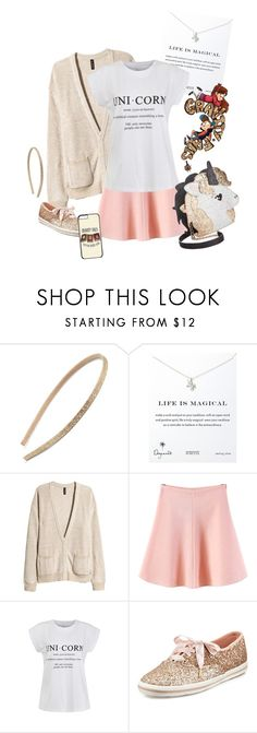"""""""Mabel Pines 1.4 {Gravity Falls}"""" by sarah-natalie ❤ liked on Polyvore featuring Tasha, Dogeared, H&M, WithChic, Ally Fashion, Kate Spade, Betsey Johnson, disney, mabelpines and GravityFalls"""