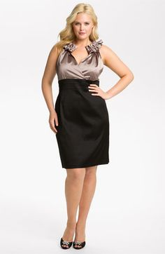 Donna Ricco Pleated Sheath Dress (Plus Size) available at #Nordstrom