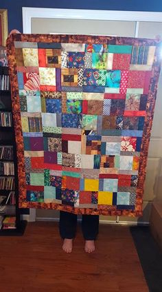 when something doesn't turn out like you want, what to do with the blocks?  put them all together and make it scrappy, add a border and BAM, done!