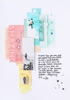 "I love this layout. It's simple but unique. Mai Kit 2016 Layout ""California"" by Steffi Ried / Scrapbook Werkstatt"