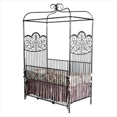 Fairytail Iron Canopy Crib, if I had a lil ghoul, I'd love to give er this crib!