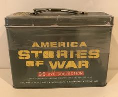 New Sealed America Stories Of War 36 DVD Collection, 2008 Mill Creek Entertainment. Tin is designed like a Military Style Ammo Can, has a few dents and scratches, looks cool. | eBay!