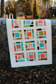 PDF baby quilt PATTERN or Lap Quilt.... Layer Cake, Fat Quarters, or scraps ...Sassy Frass