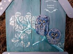Baby Boy  StoneArt/Steinkunsteulen  nachtleuchtende Elemente. Preis: 14,-- EUR   #KreativeFantasy  www.kreativefantasy.com Baby Boys, Fantasy, Rock Art, Artwork, Owl, Night, Stones, Creative, Art
