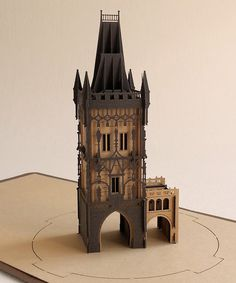 3D card skyline city architectural model paper mark by ColibriGift