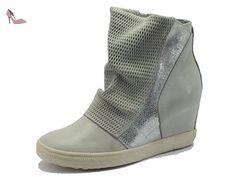 CAFèNOIR ODM119 Ghiaccio, Bottes pour Femme - Gris - Ghiaccio, 37 EU - Chaussures caf noir (*Partner-Link)