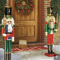 I am in love with the idea of giant nutcrackers on each side of the front door!!