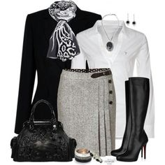 Classic elegance: black, grey, silver and white.