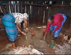Its a common believe in Cameroon that a woman's place is in the kitchen meaning cooking is meant only for the women