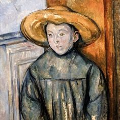 Boy with a Straw Hat, 1896 | Paul Cezanne.