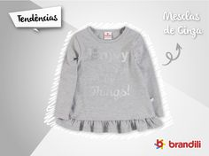 Cinza Mescla é tendência de moda infantil neste Outono/Inverno 2015 #lookbrandili
