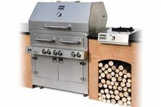 built-in version of Kalamazoo's hybrid grill