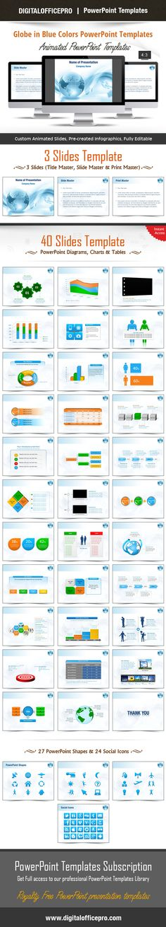 Impress and Engage your audience with Globe in Blue Colors PowerPoint Template and Globe in Blue Colors PowerPoint Backgrounds from DigitalOfficePro. Each template comes with a set of PowerPoint Diagrams, Charts & Shapes and are available for instant download.