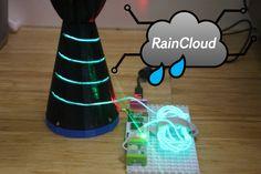 Check out this littleBits project! Raincloud umbrella minder