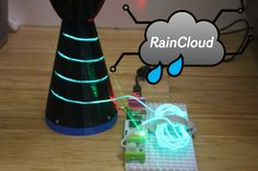 Check out this littleBits project! Raincloud umbrella minder