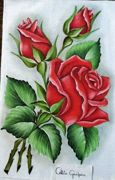 Design to draw patterns on wood 17 Ideas Beautiful Rose Flowers, Beautiful Flowers Wallpapers, Deco Floral, Arte Floral, Colorful Drawings, Art Drawings, Rose Drawings, Fabric Painting, Painting & Drawing