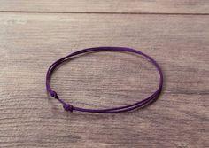 Purple String Bracelet Kabbalah Chakra Make a Wish Unisex, Women, Men Good Luck #Handmade #Friendship