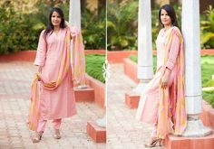 Salwar Kameez Dupatta set - Brocade Pink by Suvasa PC 16697 - Main