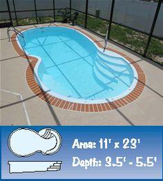 Aloha fiberglass pool bellagio model beautiful pools for Fiberglass pool manufacturers