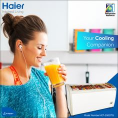 #Haier's #DeepFreezer is your ideal cooling companion for storing food items this upcoming #summer. #HaierIndia #Technology #Appliances #InspiredLiving