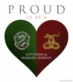HOGWARTS, SLYTHERIN, ILVERMORNY, HORNED SERPENT, HOUSES,