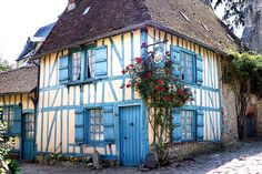 Medieval house in Gerberoy, France