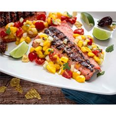 Grilled Salmon with Habanero Mango Salsa | Frontier Co-op