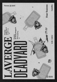 Poster Design / Laverge / Deadyard / Rock'n roll / Rude Design Crafts, Poster, Posters