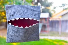 Learn how to make your own clothespin bag a free sewing pattern for a Shark Clothespin Bag that hangs on the clothes line - Cute for kids.