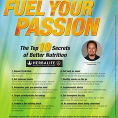 WELLNESS TIPP of the Day: Fuel Your Passion - The Top 10 Secrets of Better Nutrition INTERESTED IN WELLNESS, FITNESS, HEALTH, BEAUTY and Living a SUCCESSFUL LIFE?