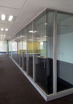 Project: BP South Africa - Oxford Park (Sound Test) - Aluglass Bautech Approximately 158 linear meters of the GF Serene 50 acoustic demountable and relocatable glass partition system were installed to create quiet spaces within open-plan applications on the 2nd, 3rd, 4th and 5th floor of the BP SA Oxford Park building.