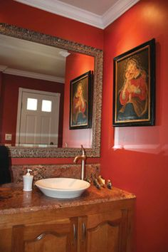 Thinking about painting our main floor bathroom this color...decisions decisions...
