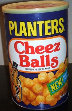 80s Planter's Cheez Balls can family size