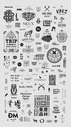First pack of selected logos & typography work / since 2008.
