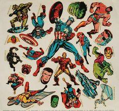 Vintage Marvel Stickers