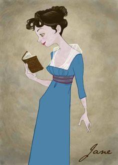 Jane Austen by Kelly Light. #reading, #books, #austen