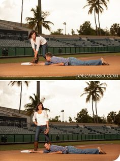 Baseball Themed engagement session Naples Wedding Photography Joe Capasso Photography www.joecapasso.com