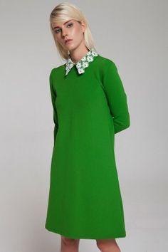 The Girl That Loves Vintage Yeşil Elbise