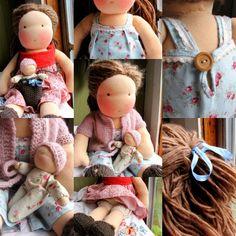Tiny Waldorf doll baby