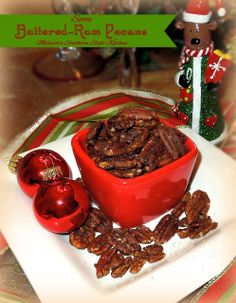 Spicy Buttered-Rum Pecans - Simple and delicious!
