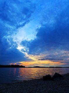 Sunset At Pocomoonshine Lake, Maine ( I live close by here ~ Linda )