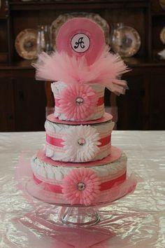 "Diaper ""cake"" for Annakate"