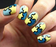 Nail Polish Society: Autism Awareness #nail #nails #nailart