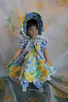 "Is It Spring Yet! Dress/Romper Ensemble for your 13"" Effner Little Darling Doll"